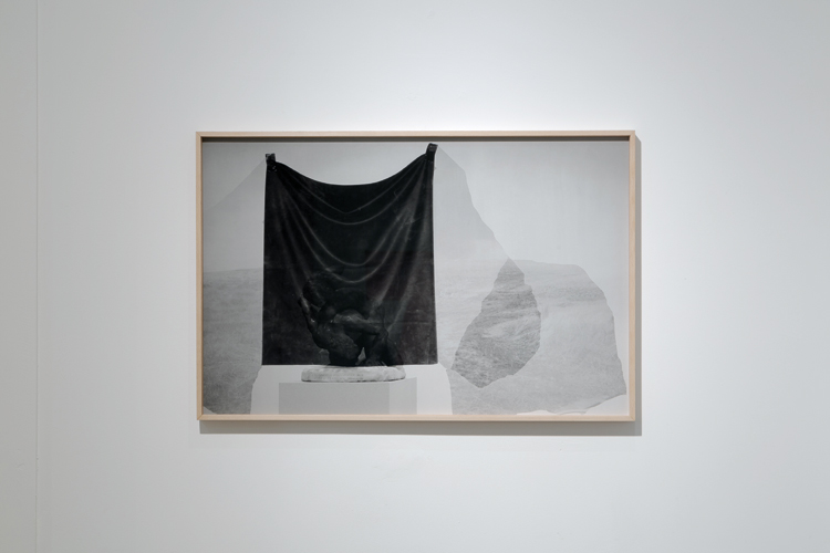 Ailbhe Ní Bhriain 'The Passenger (1)' 56×86cm (presented in a beech box frame) 2015, Pigment Baryta Print, clarity museum glass, edition 10. RHA, Dublin, installation view, November 2015