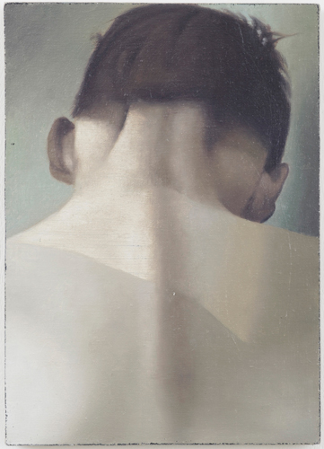 Christopher Hanlon 'Back' 37×26cm/14.5×10.2in oil on linen stretched over board, 2012, photo by Andy Keate, courtesy domobaal