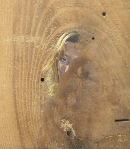 Lee Edwards 'Fades to memory' oil on oak (detail), 18×15×2cm, 2011, photo by Andy Keate