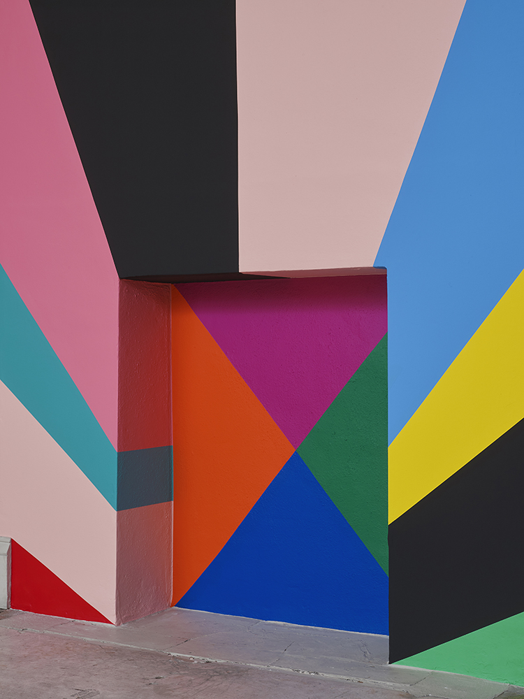 image: Lothar Götz 'Salvation' (wall painting, detail) installation view, photo by Andy Keate
