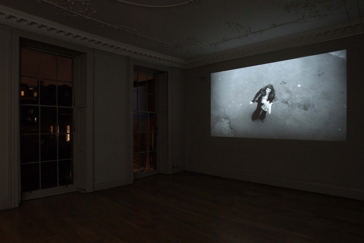 Lucy Pawlak and Martin Clark 'MC4LP' video still, 2007, installation photo by Andy Keate at domobaal.