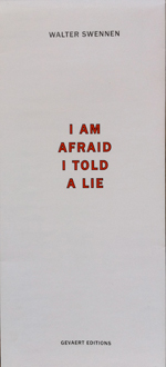 Walter Swennen 'I am afraid I told a lie (on pages 12–13)'