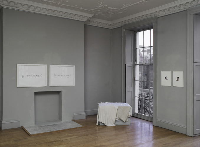 Sharon Kivland: 'I am sick of my thoughts' installation view at domobaal gallery, March 2011, photo by Andy Keate